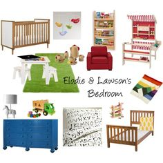 """""""Elodie & Lawson's Unisex Bedroom"""" by sequin-diva on Polyvore"""