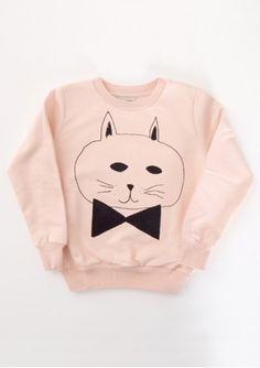 Sweat Shirt Round NecK Cat - Bobochoses