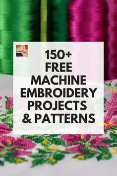 Explore the free machine embroidery projects that we have found for you. Why purchase machine embroidery patterns and designs when we have them here for free?
