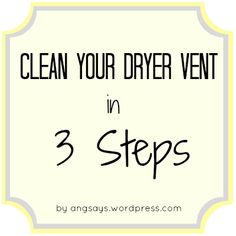 Okay, I really want to title this post How to Clean Your Dryer Vent and Not Die but that makes cleaning the vent scary and it's not, I promise. Unless you're afraid of lint, but you sho…