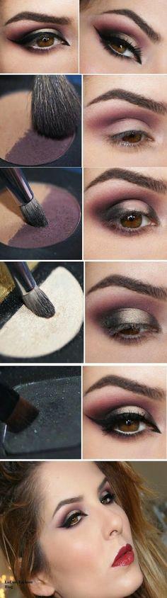 Cudownie tajemniczy makijaż - Krok po kroku...