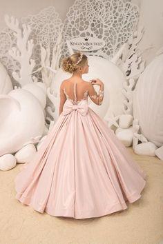 Items similar to Blush pink Flower Girl Dress - Birthday Wedding party Bridesmaid Holiday Blush pink Lace Flower Girl Dress on Etsy Cute Flower Girl Dresses, Lace Flower Girls, Little Girl Dresses, Cute Dresses, Flower Girl Gown, Pink Flowers, Girls Pageant Dresses, Gowns For Girls, Prom Dresses