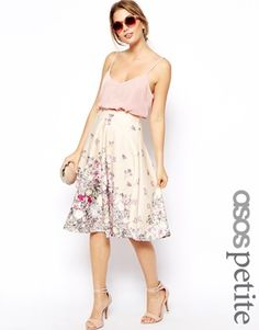 ASOS PETITE Exclusive Printed Scuba Midi Skirt. So,so pretty, think there is a theme appearing here....