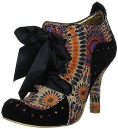 Irregular Choice Abigail's Party Multicolour Suede Fabric New Womens Boots Shoes: Shoes
