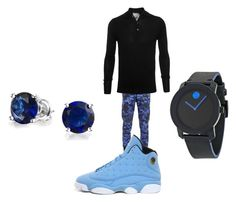 """""""Blue and Black"""" by kidnextdoor366 ❤ liked on Polyvore"""