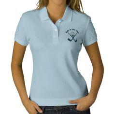 Hole In One Club Embroidered Polo Shirt Lds, Spa Uniform, Uniform Ideas, Cafe Uniform, Salon Uniform, Polo Shirt Women, T Shirts For Women, Ladies T Shirt Design, Embroidered Polo Shirts