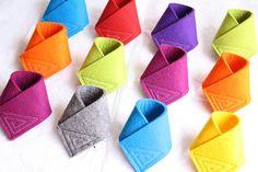 100% merino wool felt - napkin rings
