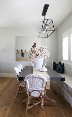 Dining space with bench seating and chair seating | House of Jade