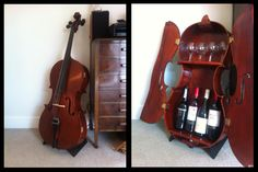 'Portamento' the port/wine cabinet - made from an old cello I found :-)