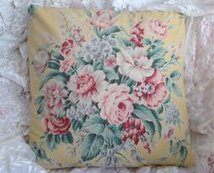 Ralph Lauren Pillow Cover Gorgeous Evelyn by rosesofyesteryear