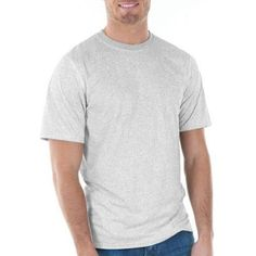Gildan Big Mens Classic Short Sleeve T-Shirt, Men's, Size: 2XL, Gray