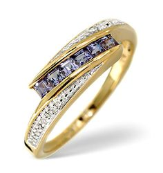 Tanzanite 0.34CT And Diamond 9K Gold Ring - Item E5464.  #tanzanitering #engagementring #engagement #ring #diamondstoreuk #yellowgold #tanzanite