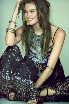 Free People Boho Dress  I love everything about this.