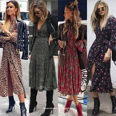 Midi Dress BootUn par que ha ganadería a muchas mujeres Source by inthelifeofzen dress with boots Fall Fashion Outfits, Mode Outfits, Look Fashion, Stylish Outfits, Dress Outfits, Autumn Fashion, Womens Fashion, Midi Dresses, Midi Dress Outfit