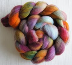 Merino Wool Roving Hand Painted Felting by FashionTouchSupplies