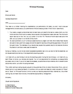 Disciplinary Action Final Warning Letter Download At HttpWww