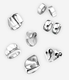 The Abstract jewellery collection features various abstract modern sleek designs crafted in polished sterling silver that proves that simplicity does not mean boring style. https://zanfeldjewellery.com/product-tag/abstract-collection/