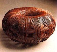 "HIGASHI Takesonosai | ""Sun"", 1984.✋Baskets✋WeavingMore Pins Like This At FOSTERGINGER @ Pinterest☝#Baskets#Weaving✋"