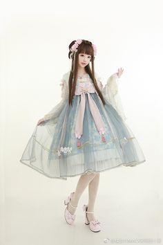Kawaii Dress, Kawaii Clothes, Harajuku Fashion, Kawaii Fashion, Dress Outfits, Fashion Dresses, Cute Outfits, Japanese Fashion, Asian Fashion