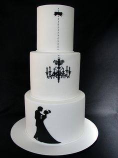Simple but elegant wedding cake