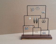 Jewelry Display Holder Wood Earring Stand Wood Earring