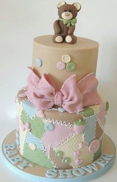 Baby shower cake-this is adorable!