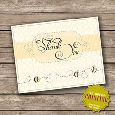 Thank You Card Bumble Bee Collection by PixelSeeds on Etsy, $8.00