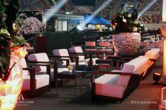 Palisander Lounge meubilair met Ocean shell vaas #event #verhuur