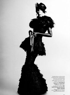"""""""Couture Couture"""" : Candice Swanepoel : US Harper's Bazaar October 2011 : Karl Lagerfeld"""