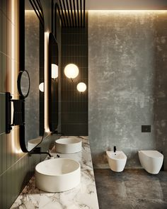 Luxurious interior design created by the various materials and colors used in the Oko Tower apartment in Moscow Architects: Tolko Interiors Location: Moscow, Russia Year: 2016 Photo courtesy: Tolko Interiors Thank you for reading this article! Design Wc, Toilet Design, Design Ideas, Design Trends, Bathroom Layout, Bathroom Interior Design, Bathroom Designs, Bad Inspiration, Bathroom Inspiration
