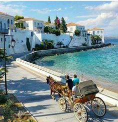 Challenge yourself with this Spetses Greece. no car Island jigsaw puzzle for free. Places To Travel, Places To See, Places In Greece, Greece Islands, Greece Travel, Travel Pictures, Beautiful Places, Scenery, Around The Worlds