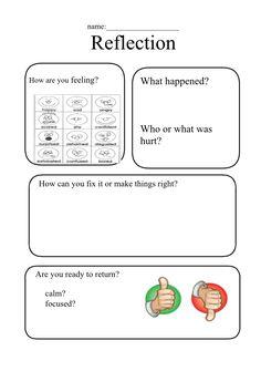 Reflection sheet Restorative practices, restorative discipline