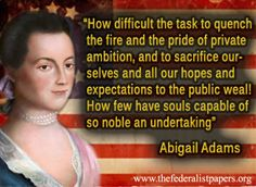 a importance of abigail adams and john parker in united states history - abigail adams abigail adams was and still is a hero and idle for many women in the united states as the wife of john adams, abigail used her position to bring forth her own strong federalist and strong feminist views.