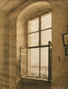 In 1806, Caspar David Friedrich, perhaps the greatest German artist of his generation, inaugurated a motif that sparked an artistic trend. Working in the challenging medium of sepia, Friedrich created two works featuring an open window with right and left views of his studio interior. Open windows, of course, were often featured in artworks, but Friedrich's perspective was different, giving attention to what was inside the room as well as what existed outside. Friedrich's sepias, exhibited…