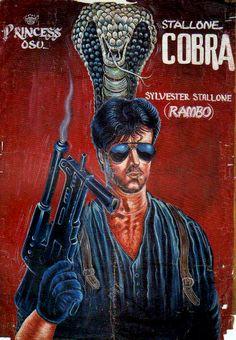 ghanaian movie poster - 100% handmade
