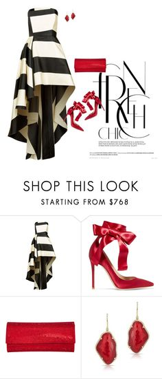 """""""Gianvito"""" by tina-pieterse ❤ liked on Polyvore featuring La Mania, Gianvito Rossi, Judith Leiber and Anne Sisteron"""