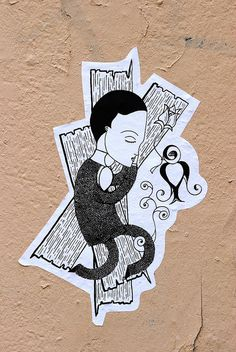 Fred Le Chevalier street art stickers   Flickr - Photo Sharing!