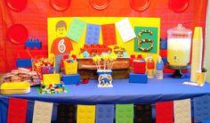Lego em festa de aniversário infantil