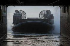 US Navy hovercraft exercises off Norfolk, US coast, with French Marine Nationale…