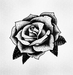 STANLEY DUKE tattoo design tattoos illustration dotwork linework blackwork stippling black flower