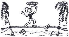 Žonglér s talířem