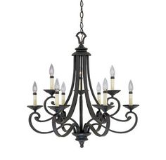 Designers Fountain 9039-NI 9 Light Chandelier from the Barcelona Collection