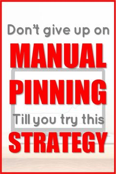 Are you struggling with Pinterest schedulers? Maybe it's time to try manual pinning. Try it now and watch your blog traffic boom! #AD Social Media Tips, Social Media Marketing, Marketing Strategies, Digital Marketing, Make Money Blogging, Blogging Ideas, Don't Give Up, Blogging For Beginners, Pinterest Marketing