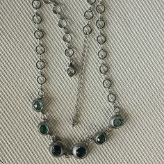 Necklace Lightweight and has two various shades of blue. 16 inches with 3 inch extender. Jewelry Necklaces