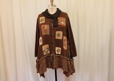 Hey, I found this really awesome Etsy listing at https://www.etsy.com/listing/209052340/upcycled-cardigan-lagenlook-wool-altered