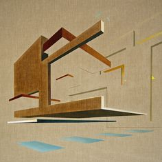 The Architects Retreat, Oil on canvas. Daniel Mullen Creates Realistic Architecture With Spatial Awareness Rise Art, Magazine Art, Art And Architecture, Online Art, Oil On Canvas, Saatchi Art, Artwork, Design Concepts, 3d Design