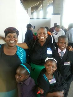 Joy, my Zimbabwean field service partner (on far left) with her 2 children, sister and niece! They were waiting for me when I arrived on Sunday morning!