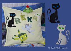 kids patchwork pillow
