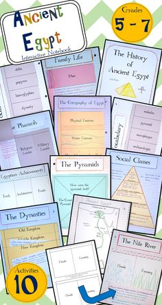 Ancient Egyptians Interactive Notebook - over 10 pages of activities!