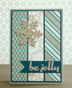 Look for leftovers from paper packs with colors that coordinate -- simple